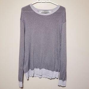 Armani Exchange Cotton & Cashmere Stripe Sweater